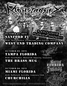 Monstrosity - Florida Infinity 2015 - Tampa, FL @ The Brass Mug | Tampa | Florida | United States